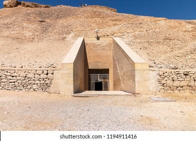 Entrance to the tomb of Ramesses IV in The Valley of the Kings, also known as the Valley of the Gates of the Kings, is a valley in Egypt where, for a period of nearly 500 years