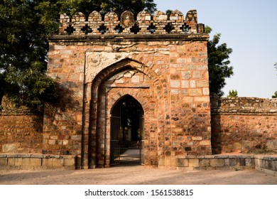 Entrance to the Tomb of Sikandar Lodi, the ruler of the Lodi Dynasty in Lodhi Gardens in New Delhi, India