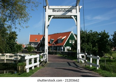 The entrance to the touristic historical village Marken near by Amsterdam