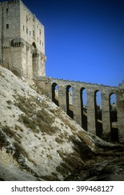 Entrance tower & moat of Citadel,Aleppo, Syria, Middle East