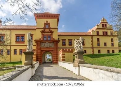 Entrance to Trebic chateau - Czech republic,Moravia