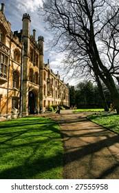 Entrance of Trinity College, Cambridge University, England