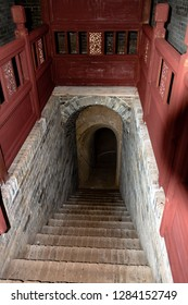 The entrance of the underground fortress of Zhangbi Cun, near Pingyao, China. 1400 years old and stretching for more than 10 km, it is the oldest and longest network of tunnels of all of China