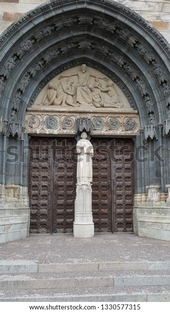 entrance to the Uppsala Cathedral