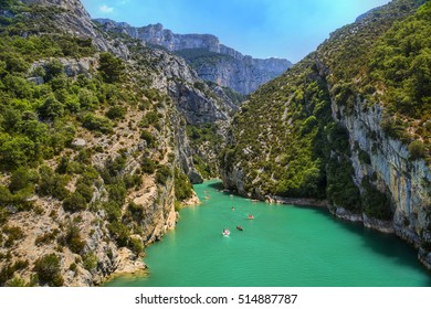 Entrance of the Verdon Gorge in Provence, France