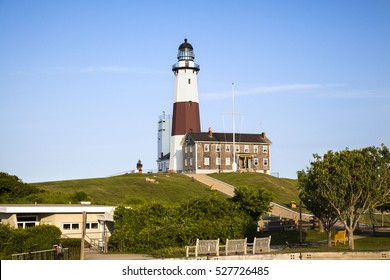Entrance way to Montauk lighthouse. Montauk Point, Long Island, Ney York.