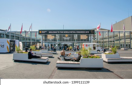 Entrance At The World Retail Congress At The Rai Complex Amsterdam The Netherlands 2019