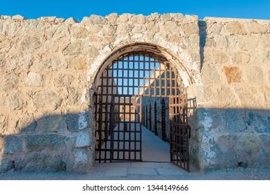 Entrance to Yuma territorial prison, Arizona state historic park, USA