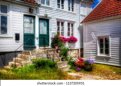 Entrances to a House in the Southern Norwegian Town Mandal