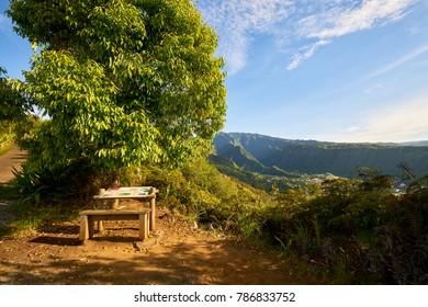 Entre-deux village, Reunion Island (coteau-sec)
