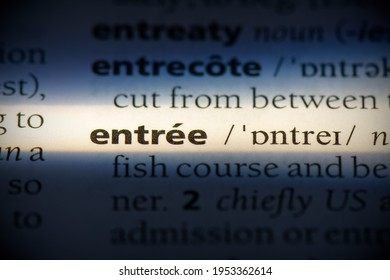entree word in a dictionary. entree concept, definition.