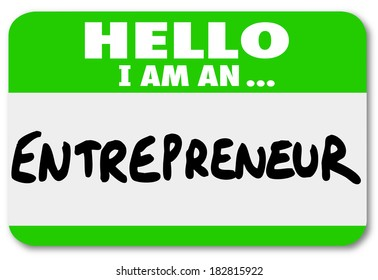 Entrepreneur Name Tag Business Owner New Startup Company