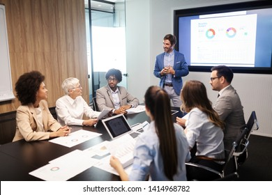Entrepreneurs and business people conference in meeting room