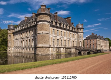 Entry of the Beloeil castle on a sunny day