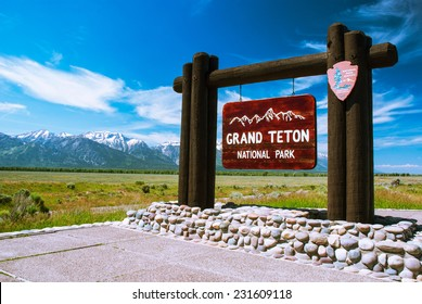 Entry to the Grand Teton National Park, Wyoming