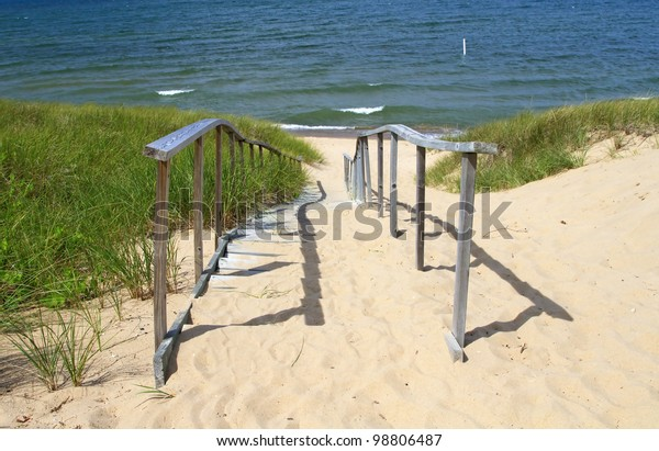Entry to Oval Beach -- Saugatuck, Michigan, USA