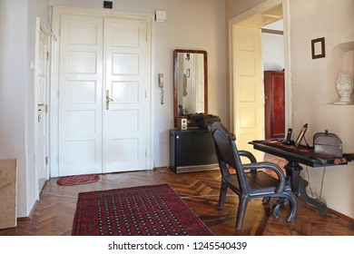 Entry Room With Tall Double Entrance Door