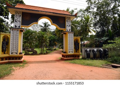 Entry to a temple,Sri Lanka