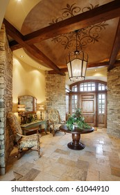 The entry way into a beautiful upscale residence.