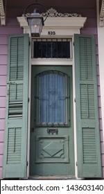 Entryway door in New Orleans