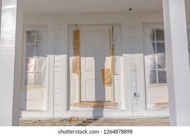 Entryway of new unfinished home in Daybreak Utah
