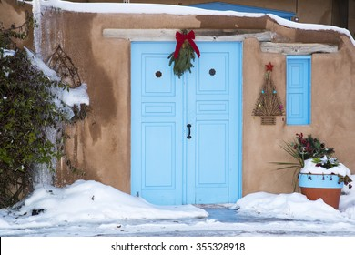 An entryway in Santa Fe, New Mexico