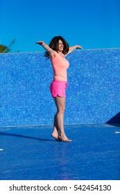 Entspannen im Schwimmbecken