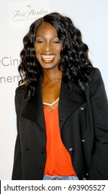 """Enuka Okuma attends the """"Longmire"""", A Cinematic Coffee Table Book Photographed and Curated by TJ Scott and Dennys Ilic on July 29, 2017 at Cinematic Pictures Gallery in Hollywood, CA."""