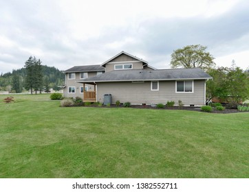 Enumclaw, WA / USA - April 26, 2019: Luxury country home exterior