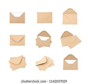 Envelope made of recycled paper