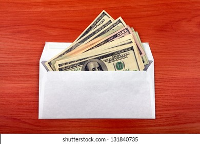 Envelope With Money lying on the table