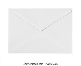 Envelope on white