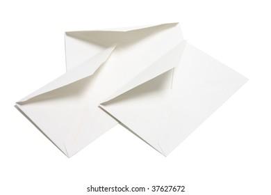 Envelopes on Isolated White Background