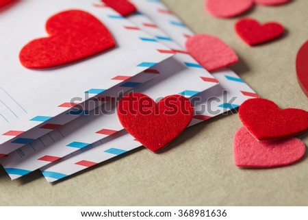 Envelopes Valentines Day Stock Photo Edit Now 368981636 Shutterstock