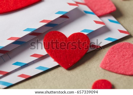 Envelopes Valentines Day Stock Photo Edit Now 657339094 Shutterstock