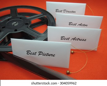 Envelopes with winners for a movie award