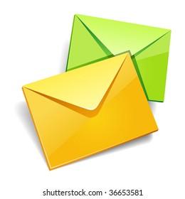 Envelops icon isolated.