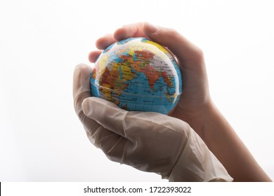 Environment conservation, save planet,  peace, disease and  virus protect concept