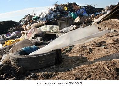 Environment disaster, illegal trash dump
