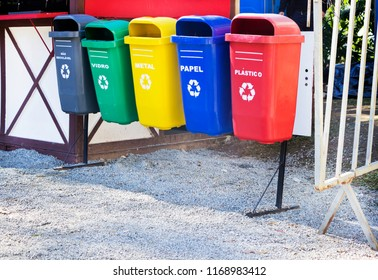 Environmental education - garbage cans - selective collection for recycling - nature conservation