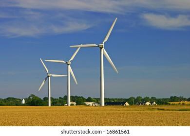 Environmental friendly alternative energy by wind turbines