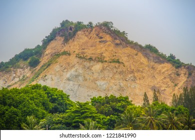 Environmental impact of quarrying and mining in the mountain made erosion in the environment, formation of sinkholes, loss of biodiversity, and contamination of soil. A quarry cuts into an entire hill