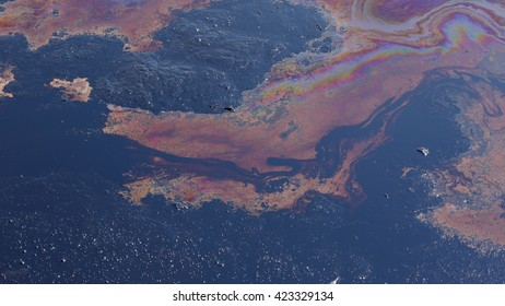 Environmental liquid oil pollution, disaster dirty, contamination of the environment, oil lagoon, toxic soil, waste, Czech Republic, Europe, EU