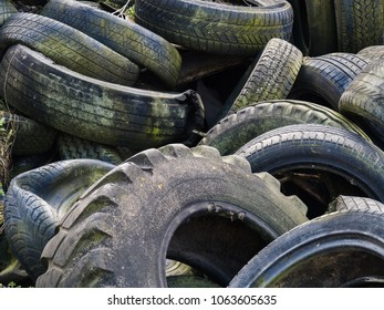 Environmental load: Wild landfill of old tires