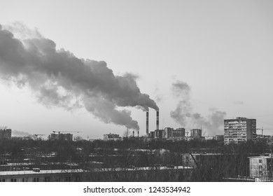 Environmental pollution due to toxic emissions of the plant