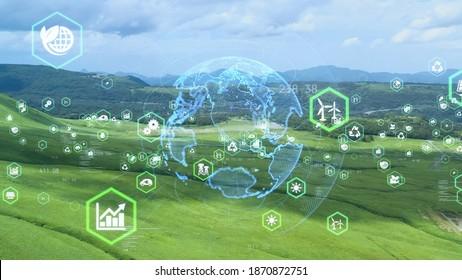 Environmental technology concept. Sustainable development goals. SDGs. - Shutterstock ID 1870872751
