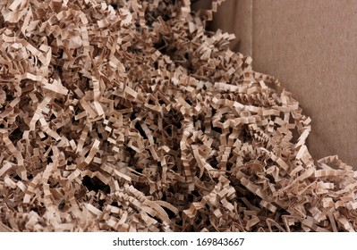 Environmentally Friendly Packing Material Brown Crinkle Cut Shred