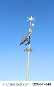 environmentally friendly sustainable energy from wind charging a weather station