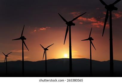 eolian turbine farm,wind turbine