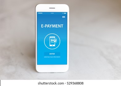 E-PAYMENT CONCEPT ON SCREEN